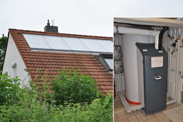 Einfamilienhaus in Schwabmünchen, Kollektor: SOLVIS Cala - Indachmontage, Kollektorfläche: 13m², Speicher: SolvisMax Solarheizkessel, Speichervolumen: 750 Liter, Energieverbrauch vorher: 22.000 kWh Gas, Energieverbrauch nachher: 13.200 kWh Gas, Energieeinsparung: 35 Prozent, Restheizung: integrierter Gasbrennwertkessel, Besonderheit: Der Gasbrenner ist im Speicher platziert, dadurch im laufenden Betrieb immer Brennwertnutzen. Das Solarheizsystem ist mit einer solaren Start-Stopp-Regelung für den Gasbrenner ausgestattet.